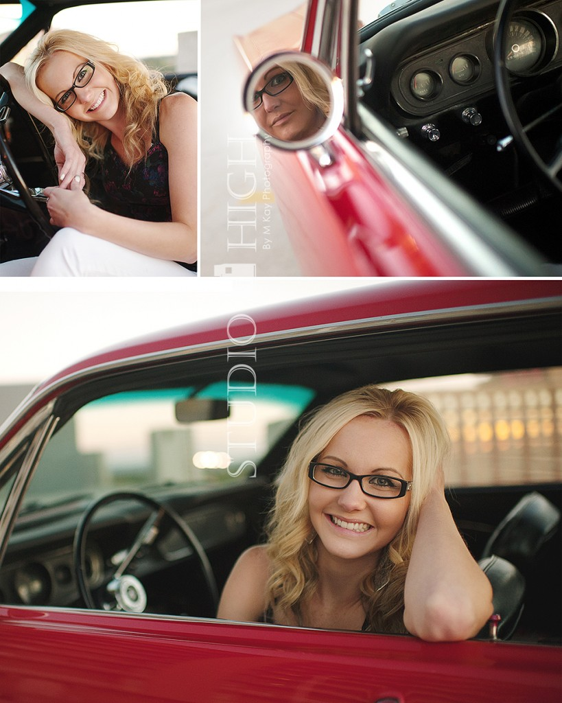 red mustang beautiful senior photography boise idaho