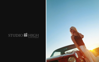 sunset red mustang boise idaho senior photo